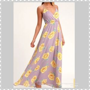 """NEW Lulu's """"Kind And Loving"""" Floral Maxi Dress"""